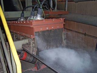 Пылеочистка в точках перегрузки на конвейере