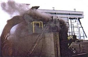 Хоппер до установки «сухого тумана» и ветрового барьера.