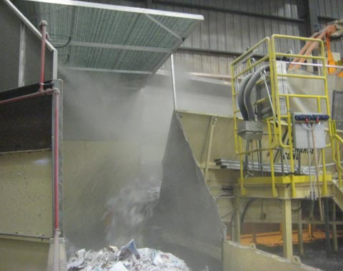 Пылеподавление при переработке бумаги, воздухоочистка