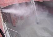 Пылеподавление в корабельном трюме