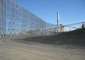 Хранение угля в штабелях